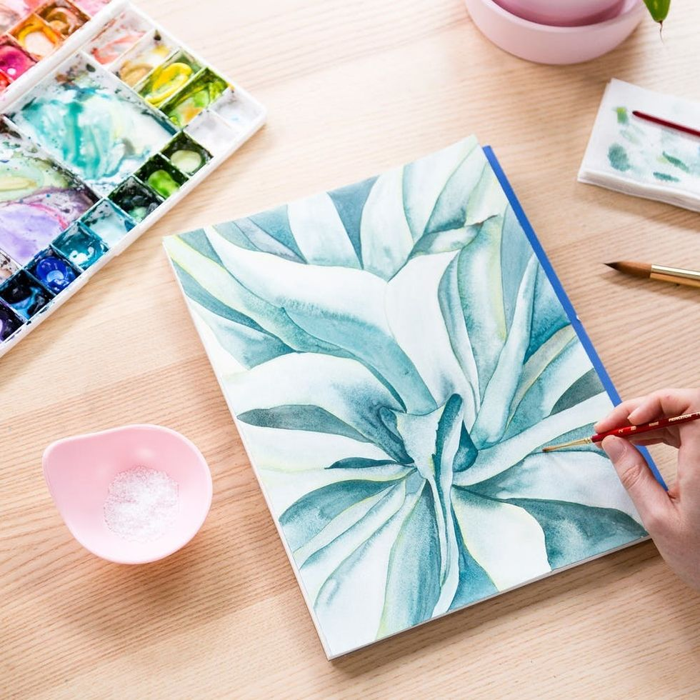 Our Brand-New Succulents Watercolor Class Is Total #PlantLadyGoals