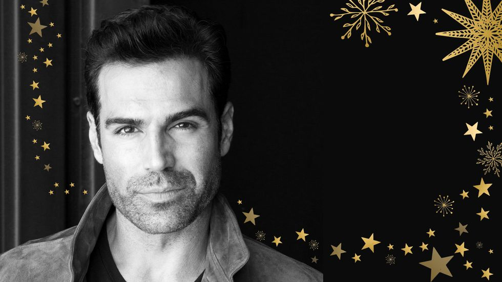 Jordi Vilasuso poses for a holiday image.