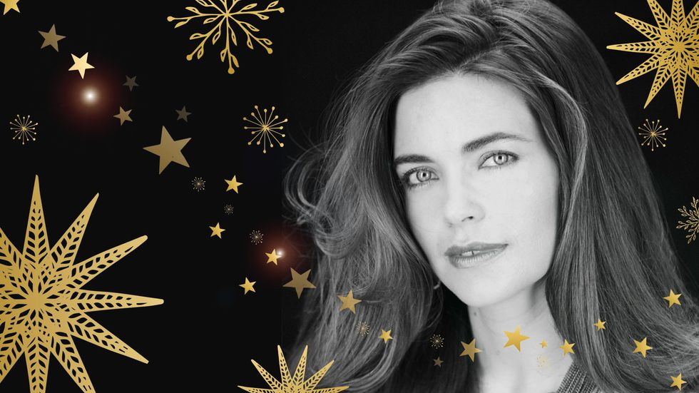 Amelia Heinle poses for a holiday portrait.