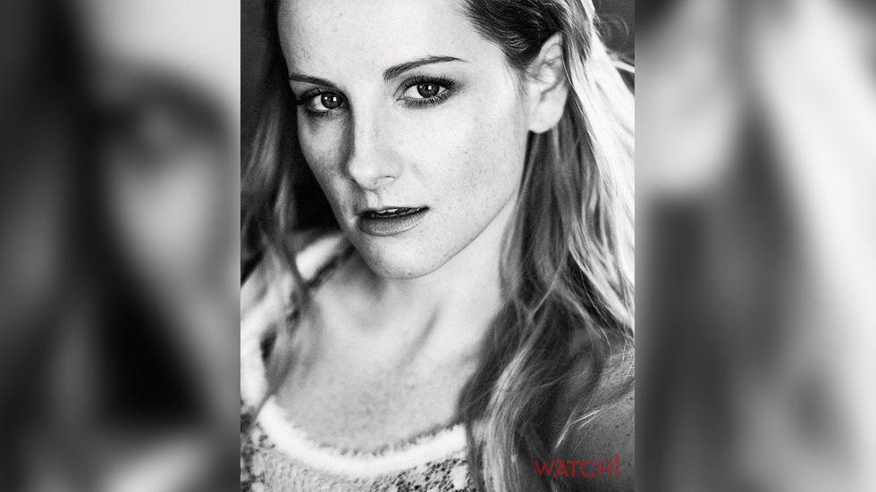 Melissa Rauch black and white photo