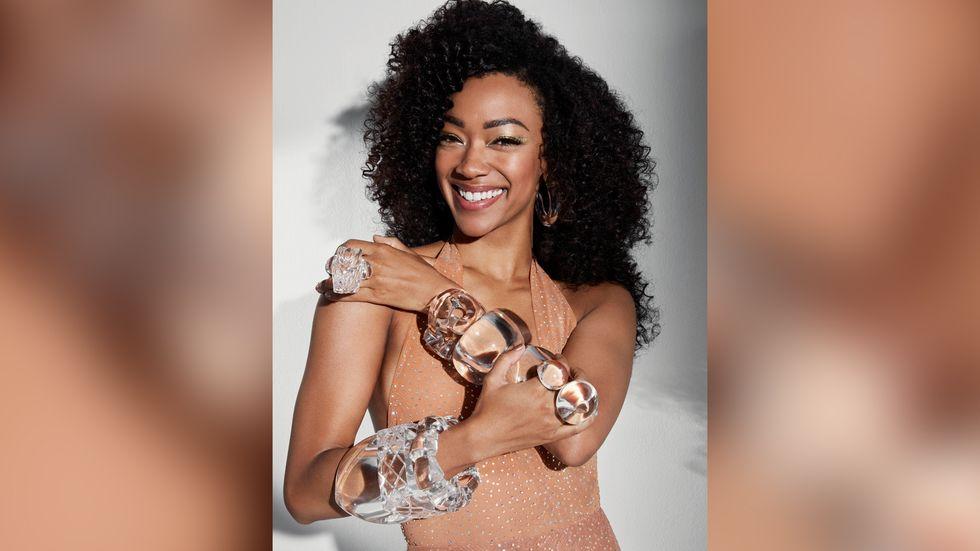 Sonequa Martin Green of Star Trek Discovery in stacked acrylic bracelets