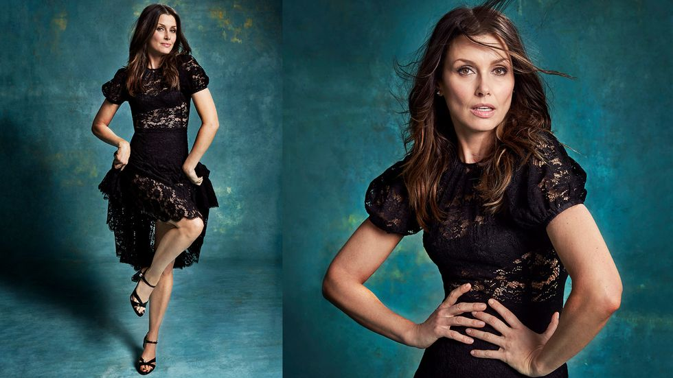 Bridget Moynahan in lace dress