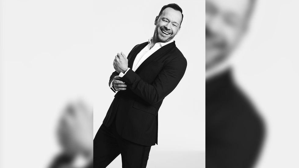 A Smiling Donnie Wahlberg in a Tuxedo