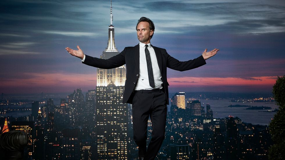 Walton Goggins in front of Empire State Building