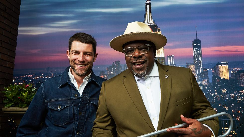 Cedric the Entertainer and Max Greenfield New York City scene