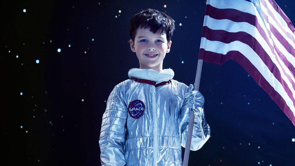 Ian Armitage in NASA space suit