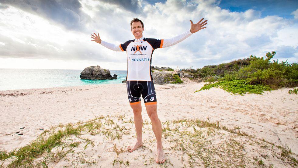 Phil Keoghan on the beach