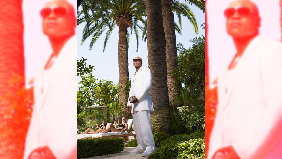 LL Cool J handsome in all white