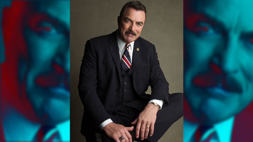 Tom Selleck in blue suit
