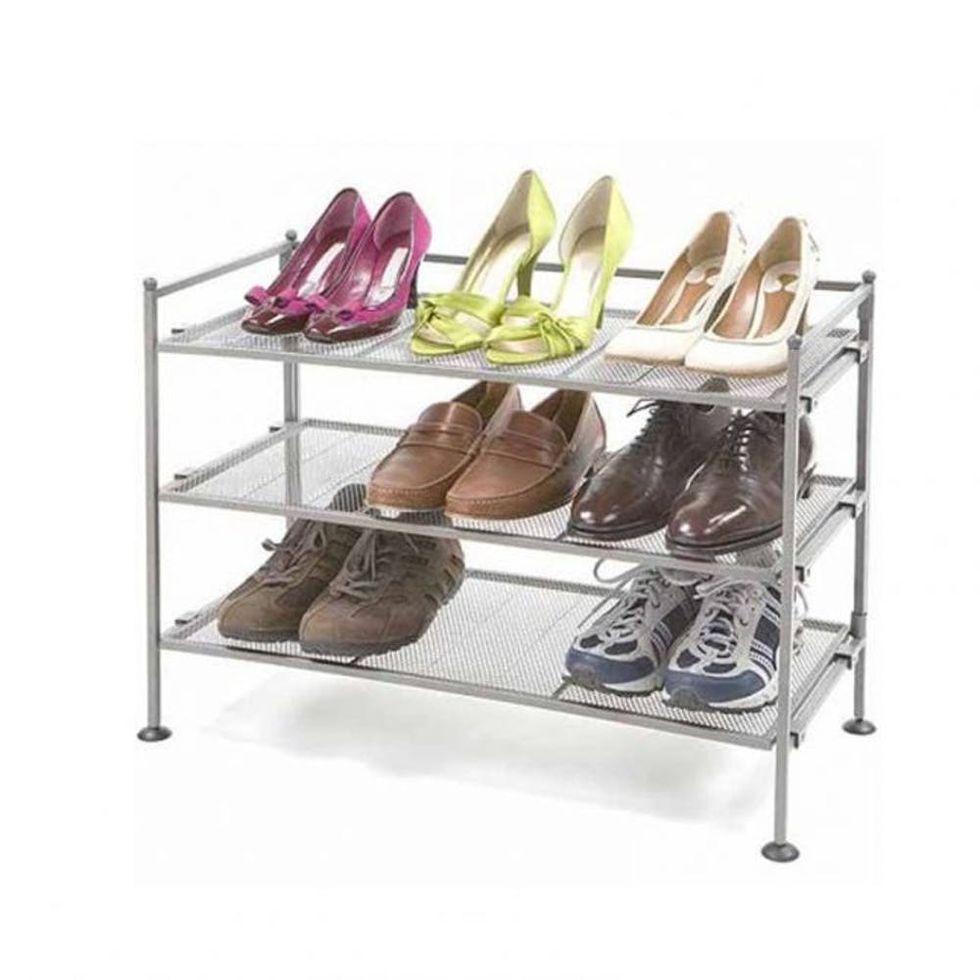 Seville Classics 3-Tier Utility Shoe Rack