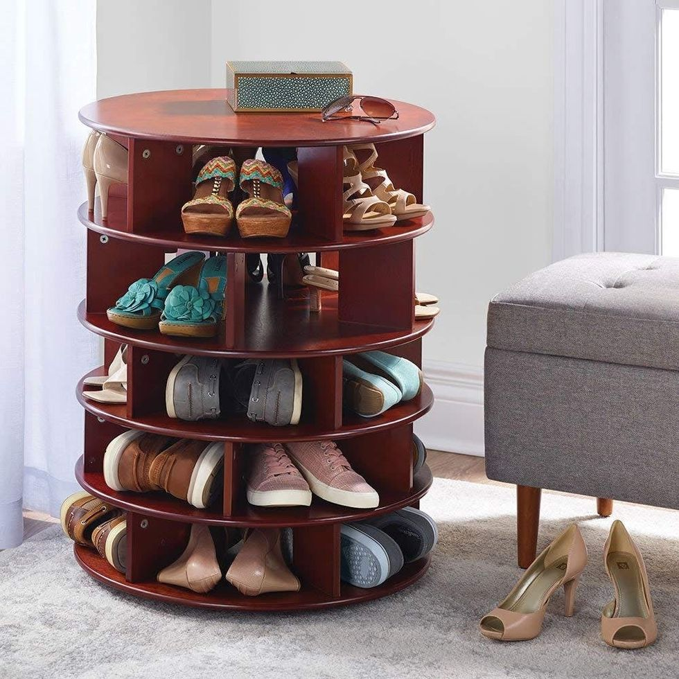 Hammacher Schlemmer 25 Shoe Wood Table