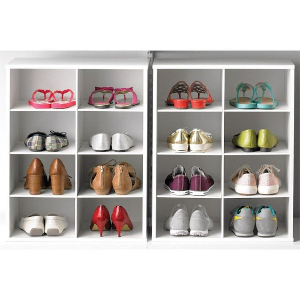 container store 8-Pair Shoe and Purse Organizer