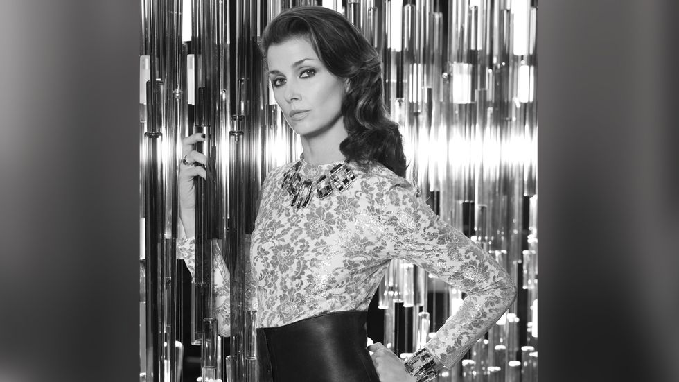 Bridget Moynahan in an elegant print top