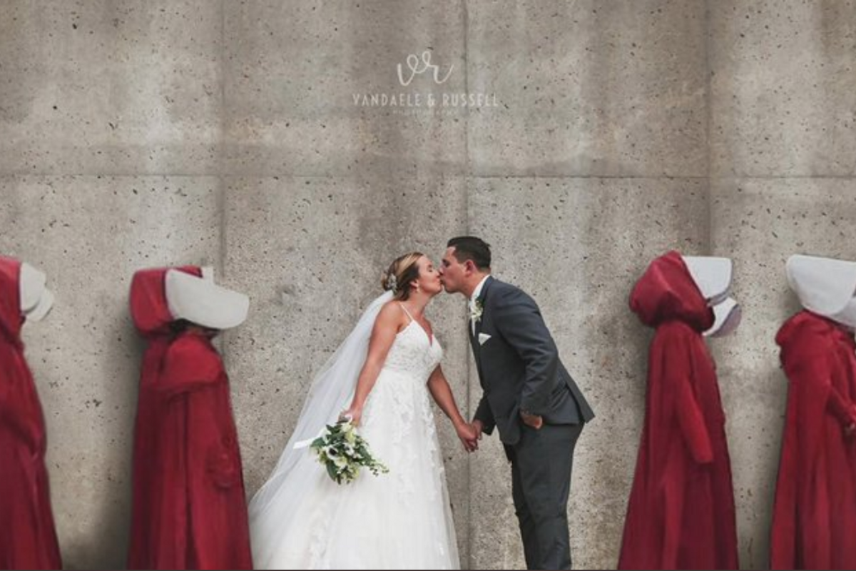 Outrage over a Handmaid's Tale wedding photo went viral. But it's not as tone-deaf as it seems.