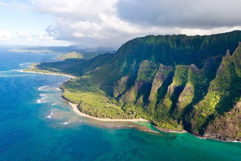 Sur la côte Pali, Hawaï