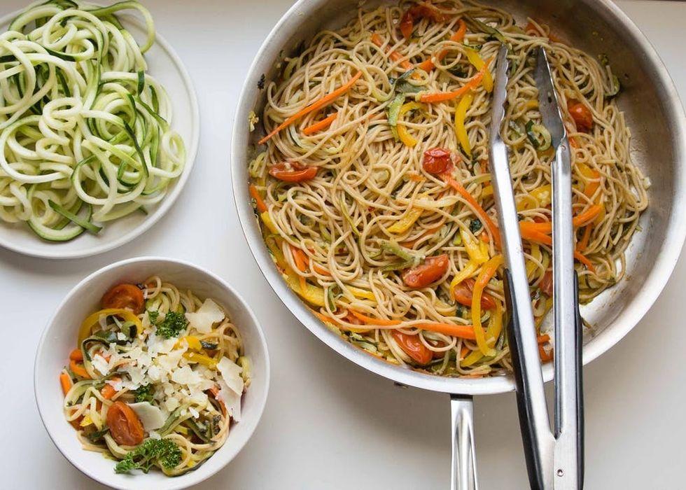 Spiralized Zoodles Primavera Pasta Recipe