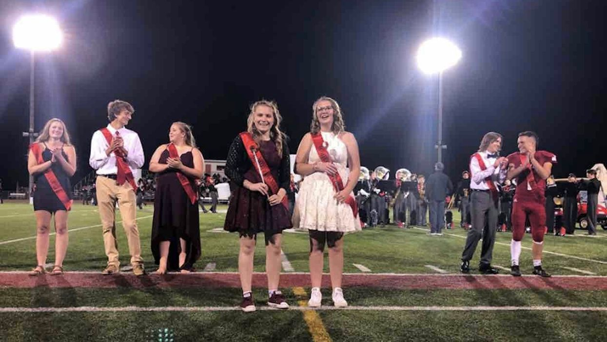 Two females voted homecoming king and queen; high school calls them 'homecoming royalty' to reinforce inclusivity