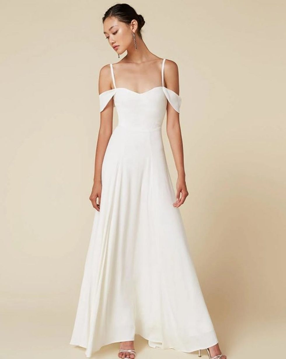 11 Beach Wedding Dresses That Cost Less Than 500 Brit Co,Summer Wedding Tea Length Mother Of The Groom Dresses
