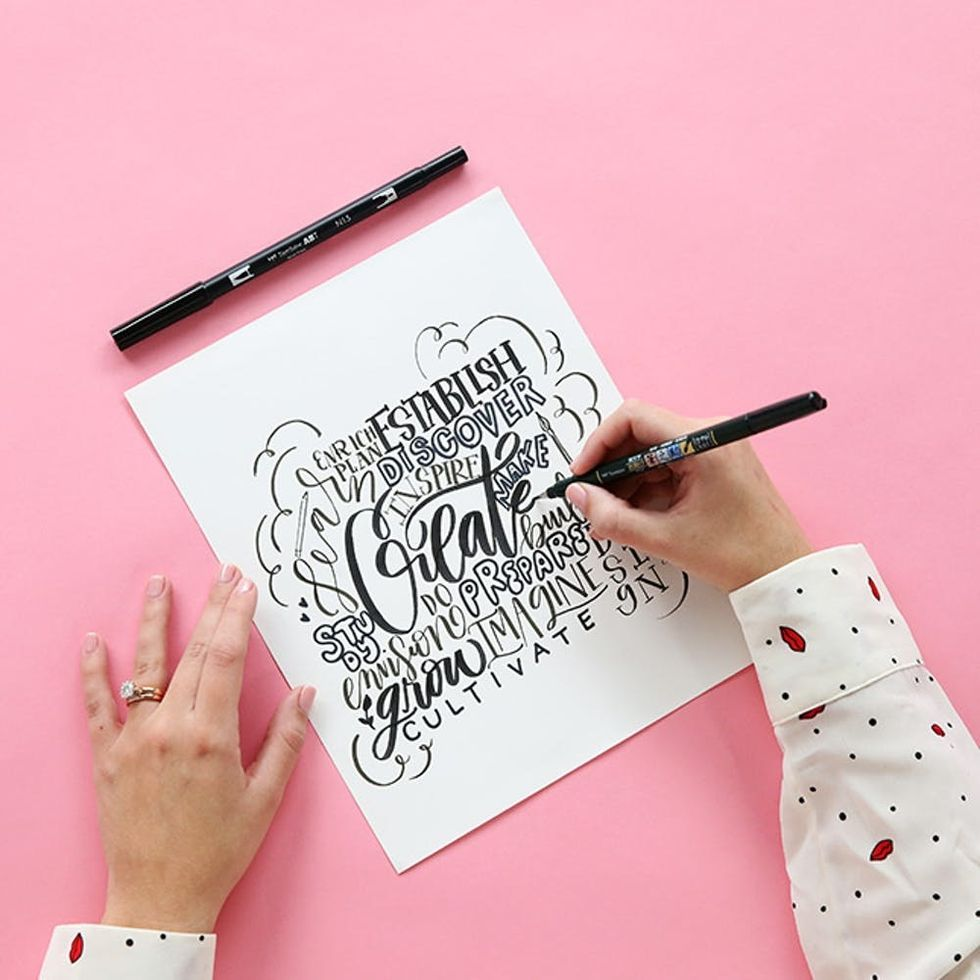 Create a Beautiful Word Collage in Various Lettering Styles