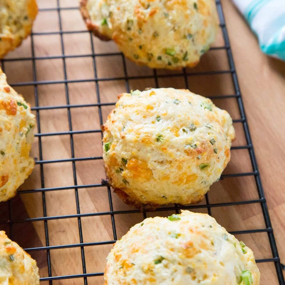 Make This Crazy Addictive Cornmeal Biscuits Recipe With Cheddar, Chives and Jalapeños