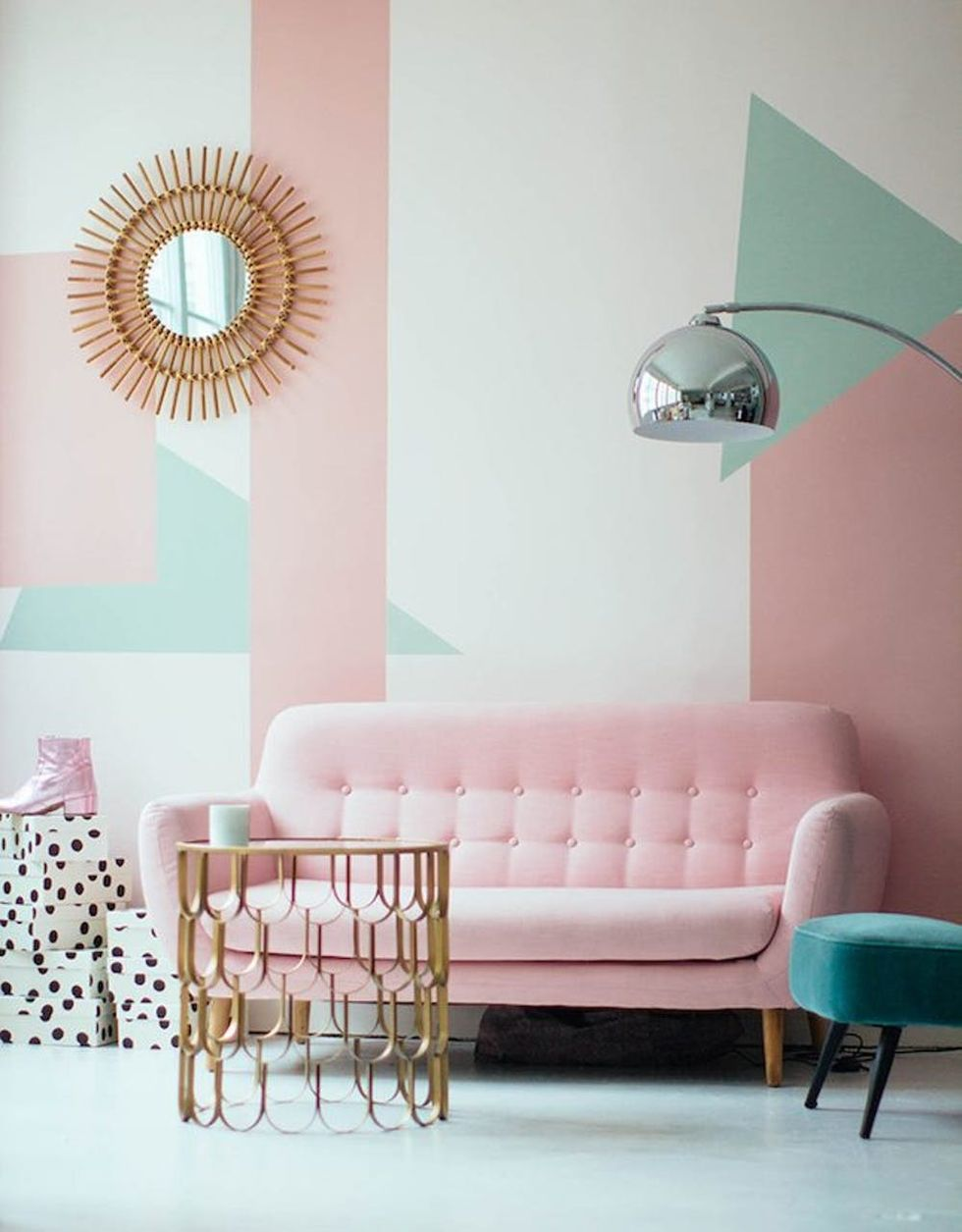 10 Rooms That Flawlessly Rock The Pink Mint Color Trend Brit Co