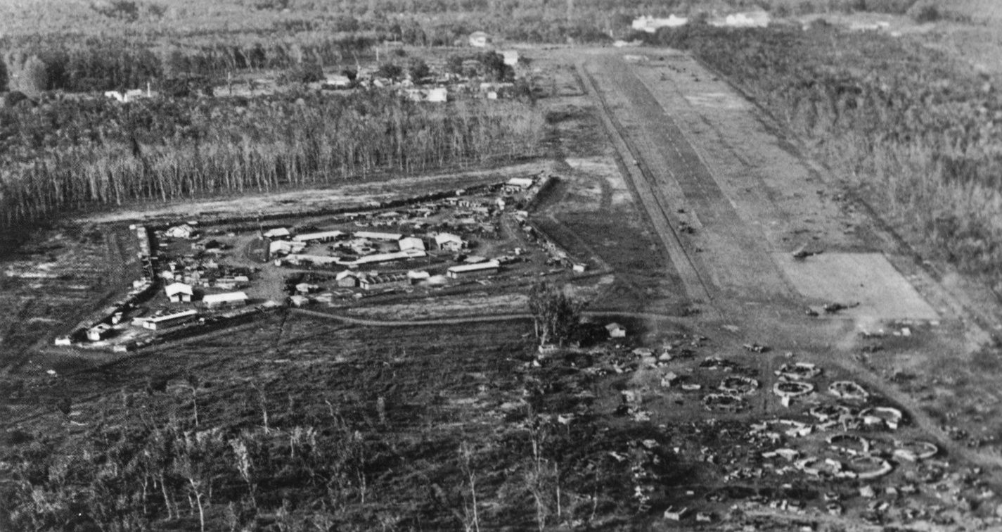\u200bThe Civil Irregular Defense Group compound at Loc Ninh. The Airstrip is to the right of the photo.