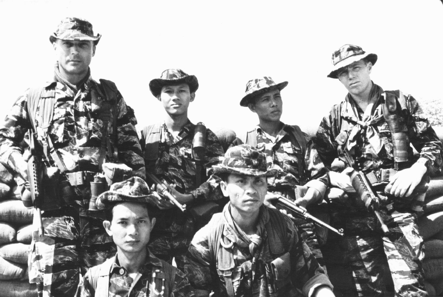 \u200bU.S. Special Forces soldiers and South Vietnamese troops in September 1968.