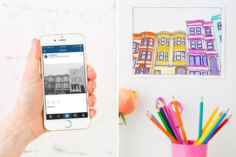 How To Make Coloring Book Pages From Your Instagrams - Brit + Co