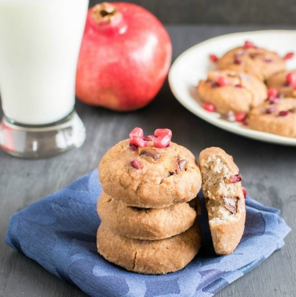 Healthy Chocolate Chip Pomegranate Cookie Recipe