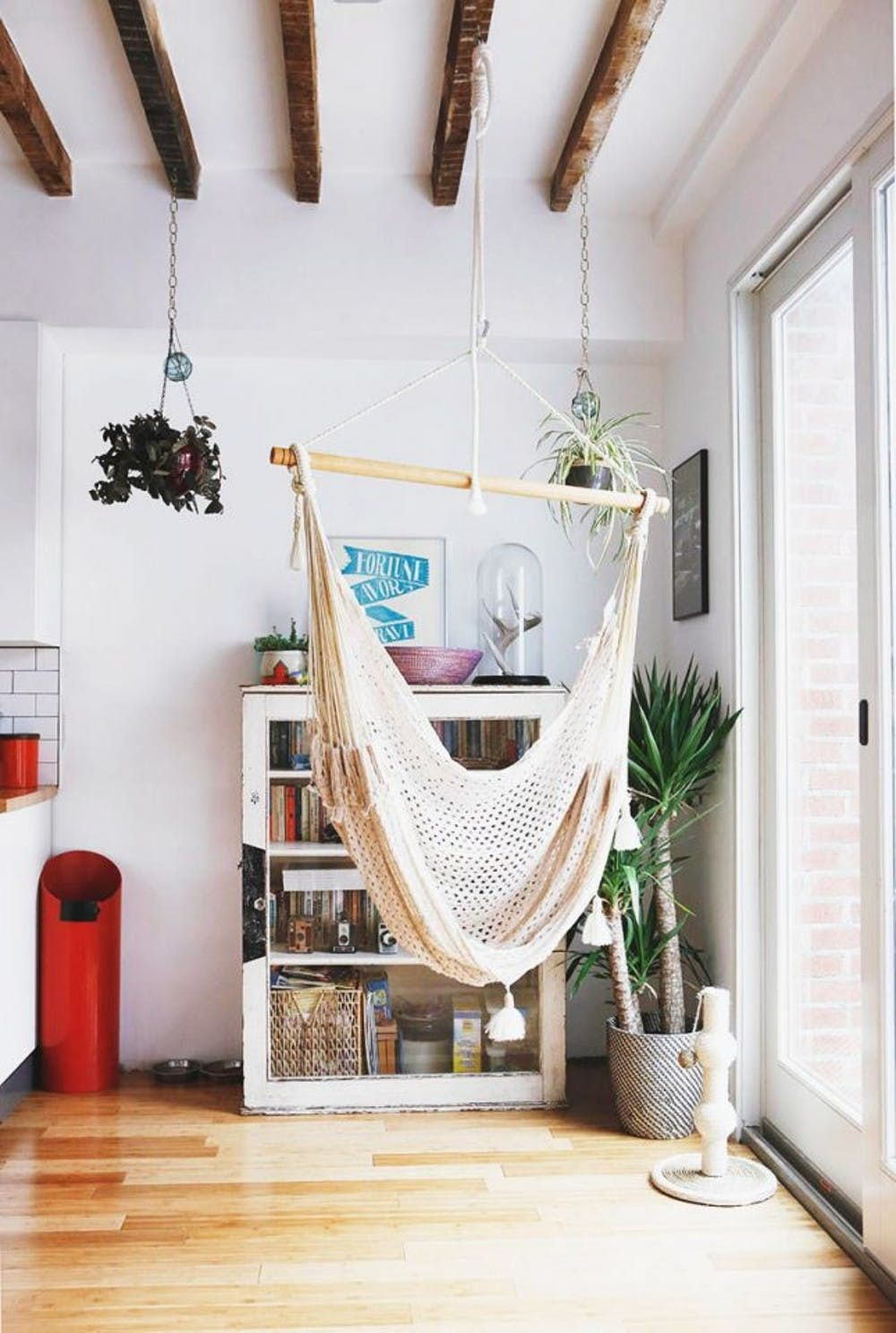 Keep Summer Going All Year Long With This Indoor Hammock