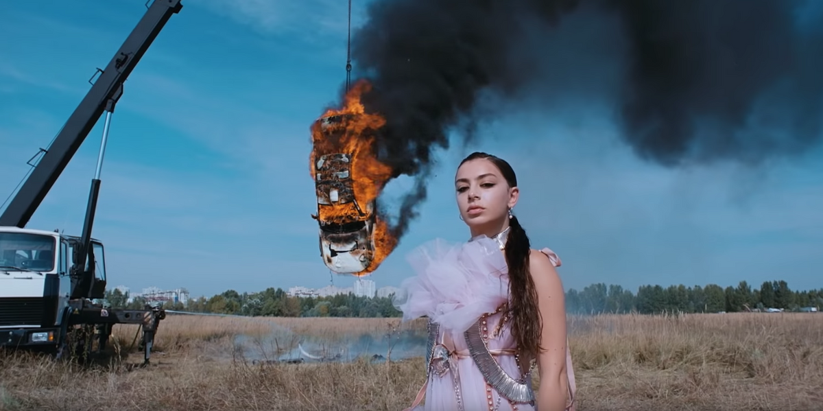Charli XCX Set an Entire F**King Car on Fire