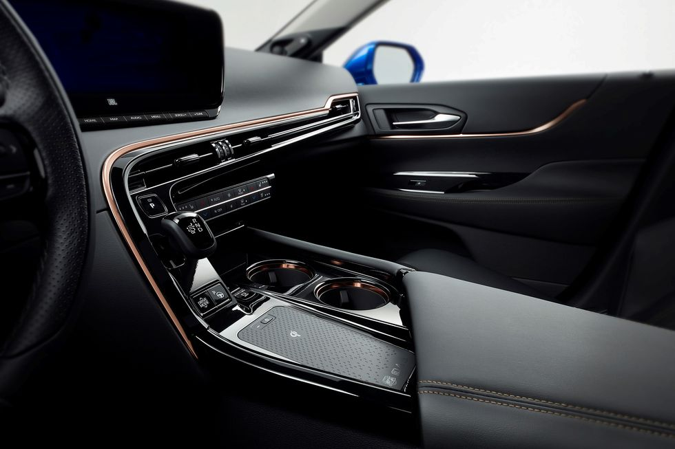 2021 Toyota Mirai interior center console