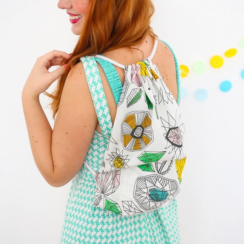 How to Turn Fabric Scraps into a Backpack in 15 Minutes