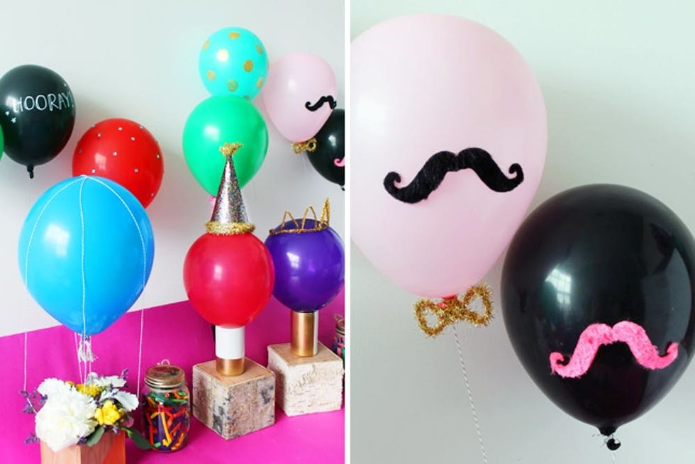 7 Festive Ways To Decorate Balloons Brit Co