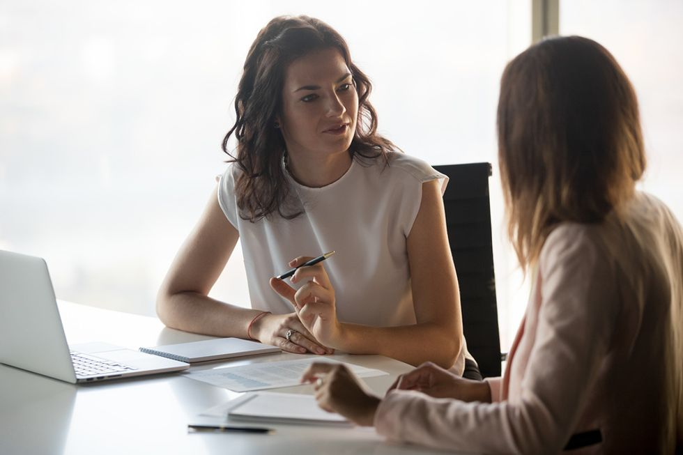 Employer asks a potential job candidate a hard interview question
