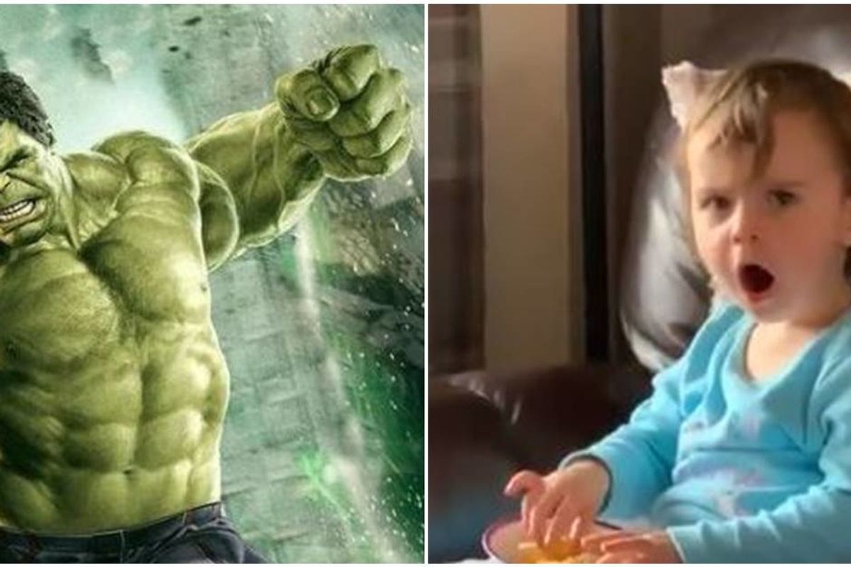 Everyone loves this two-year-old's reaction to seeing Bruce Banner become the Hulk