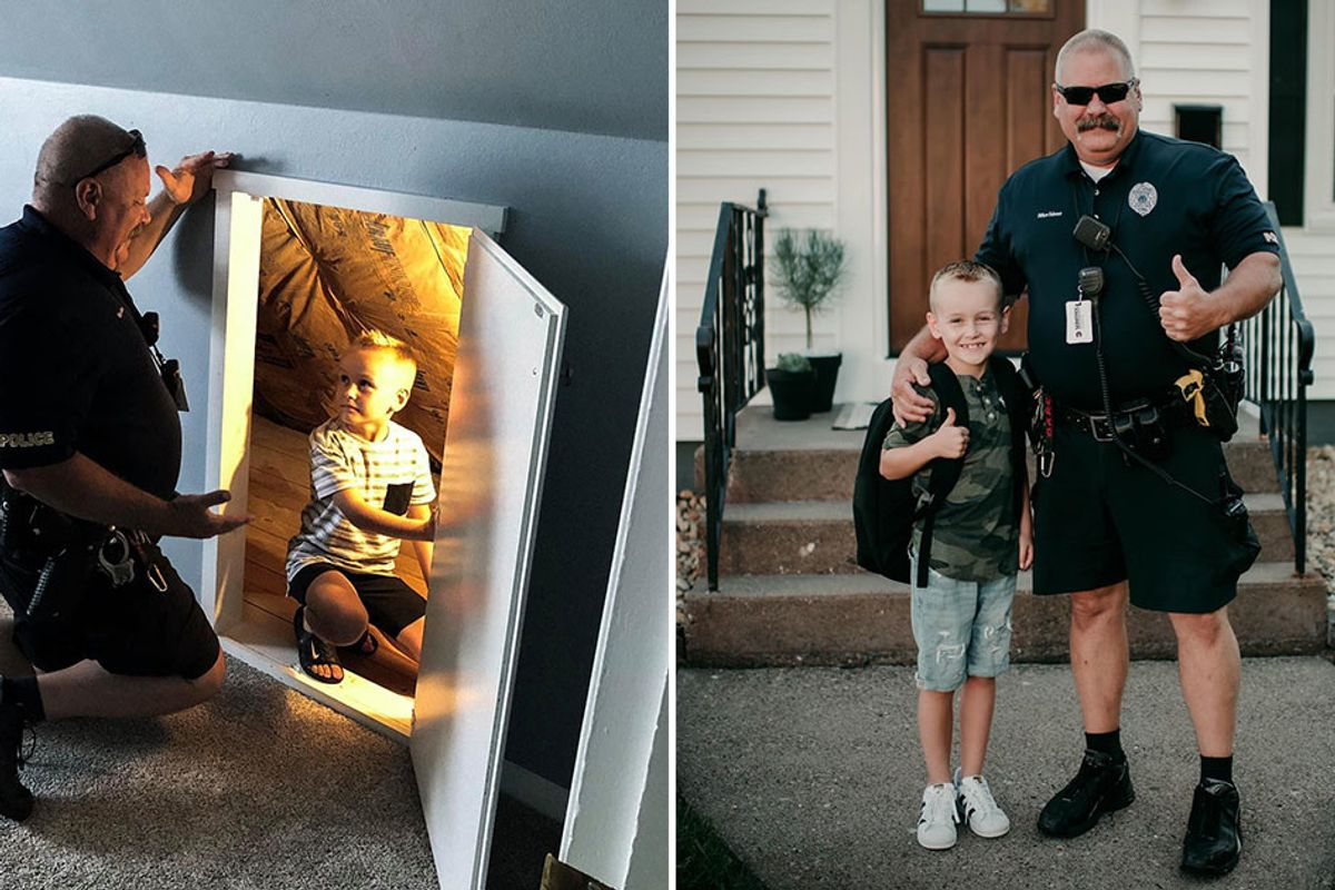Police officer makes house call to ease 6-year-old's fears about monsters