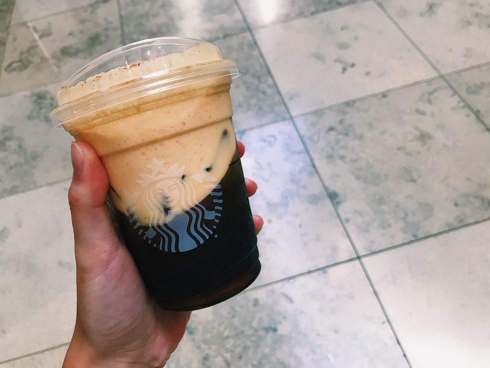 Starbucks' New Pumpkin Cream Cold Brew Is The Perfect Drink For Fall
