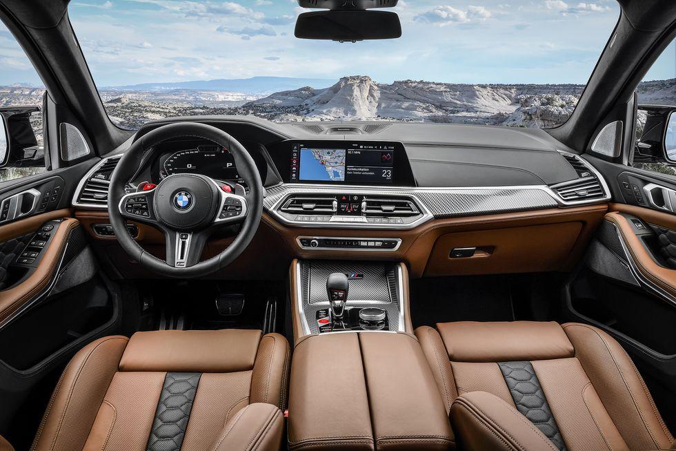 2020 BMW X5 M interior brown cabin inside