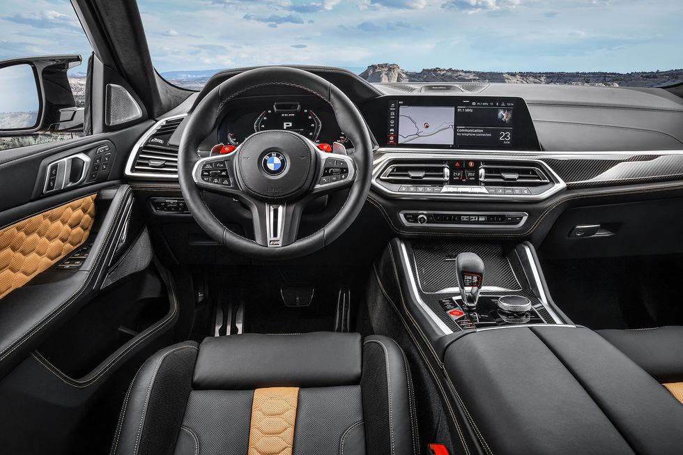 2020 BMW X6 M interior black cabin inside