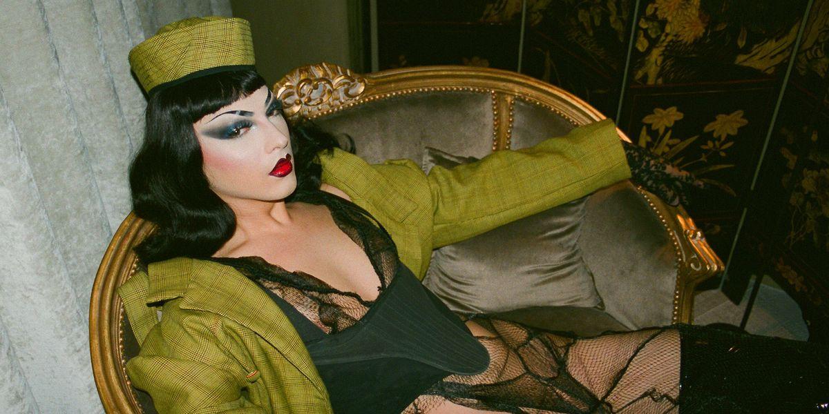 Violet Chachki Models Rising Designer Luis De Javier