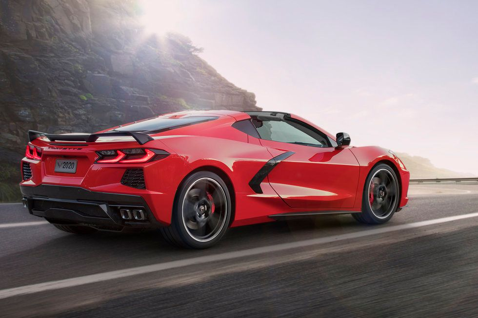 2020 Chevrolet Corvette driving exterior side spoiler wheels vents convertible