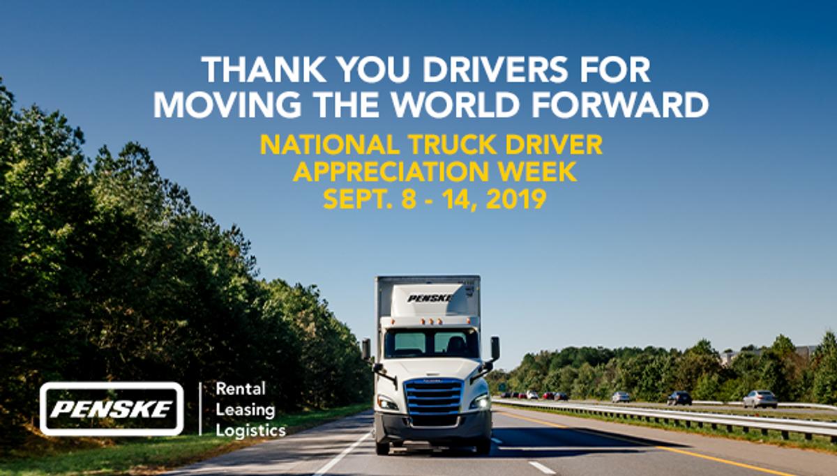 Penske Logistics Thanks its Drivers During National Truck Driver Appreciation Week