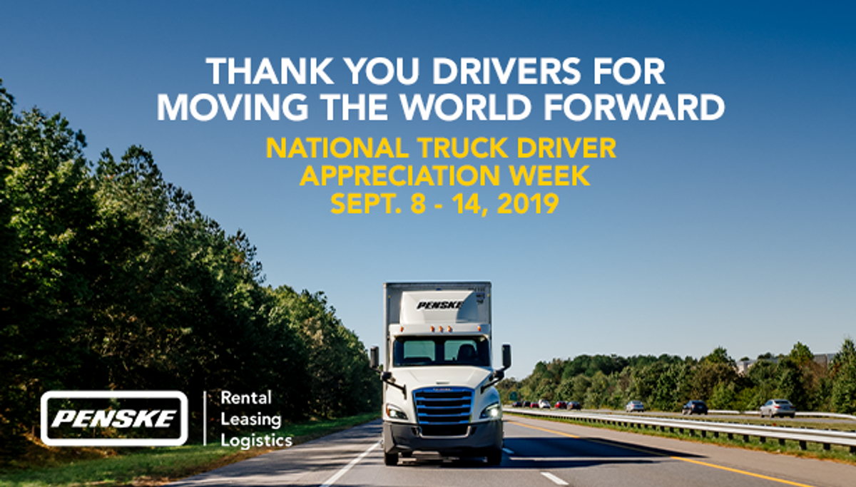 Penske Logistics Thanks its Drivers During National Truck Driver Appreciation Week