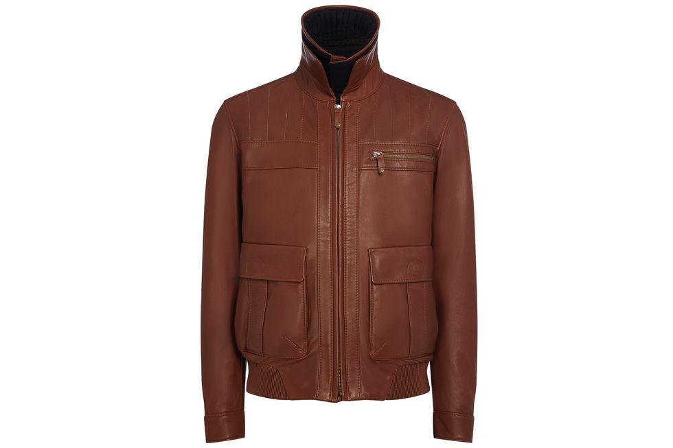 Heritage leather jacket Bentley Collection