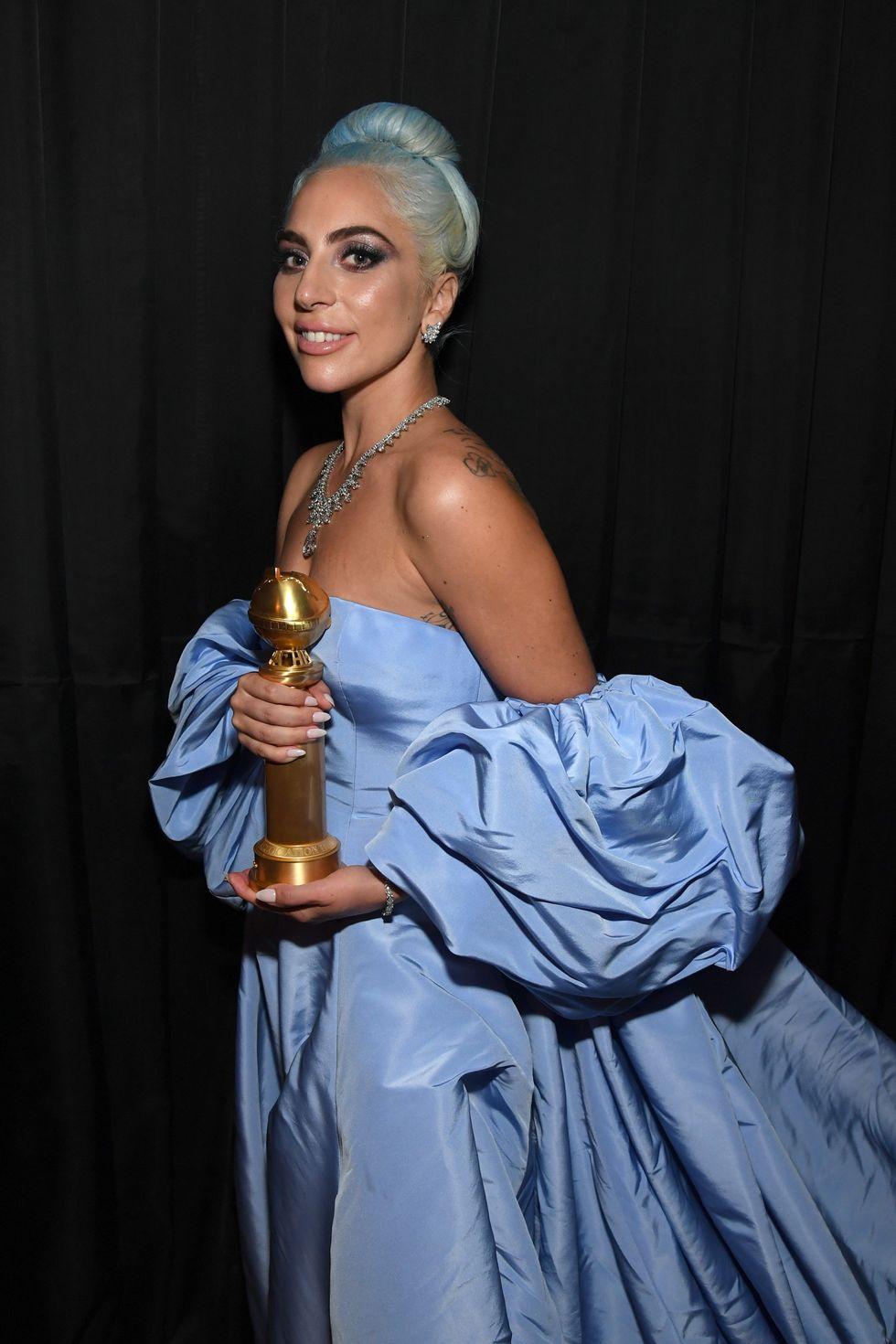 Lady Gaga durante los Globos de Oro 2019