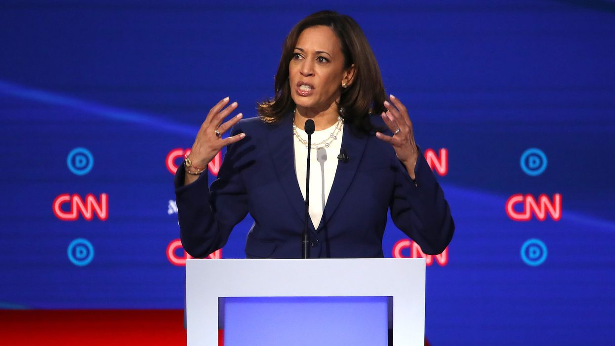 Twitter defends allowing President Trump on the site after Kamala Harris calls for him to be banned