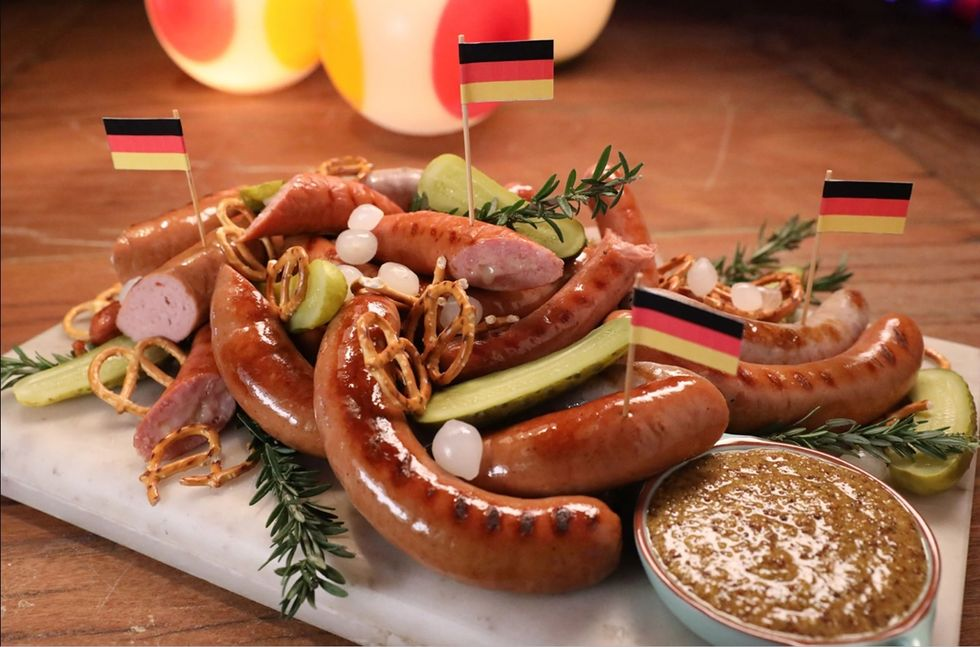 A Platter of Delicious German Sausage