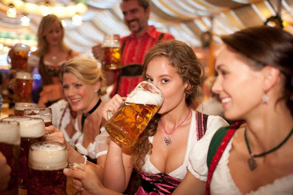 Women Enjoying the Festivities at Oktoberfest 2015
