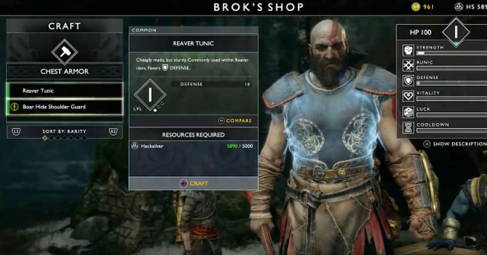 God Of War How Can Players Customize Kratos Second Nexus